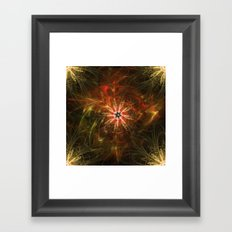 Fractal Flower Framed Art Print