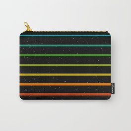 Rainbow stripes on starry sky Carry-All Pouch