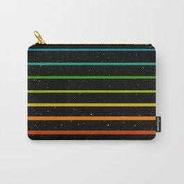Rainbow stripes on starry sky Carry-All Pouch