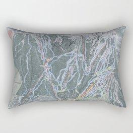 Snowmass Resort Trail Map Rectangular Pillow