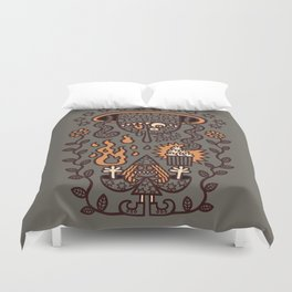 Grand Magus Summons Entity With Dark Popcorn Power Duvet Cover