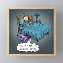 Please stop farting! Framed Mini Art Print