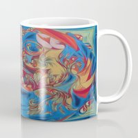 eat Mugs featuring EAT by Robert Nickologianis