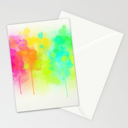 Dribbling Paint Stationery Cards