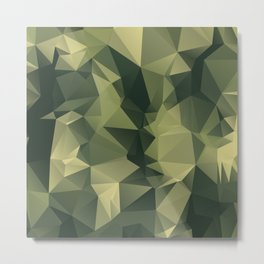 Low-poly camoflauge pattern Metal Print