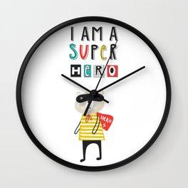 I am a SUPERHERO Wall Clock