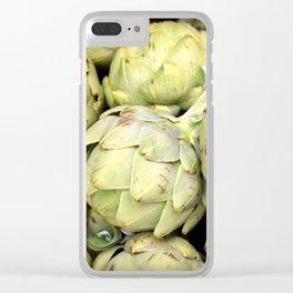 Artichokes | Green | Vegetables | Kitchen |Food Photography | Nadia Bonello Clear iPhone Case