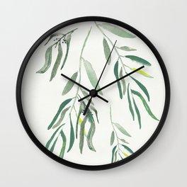 Eucalyptus Branches II Wall Clock