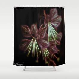 Electric Floral  Shower Curtain