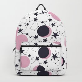 Modern Moon and Star Pattern Backpack