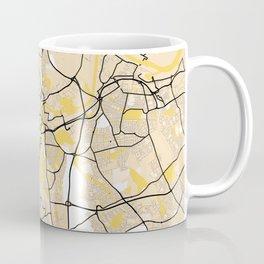 Stockton - On - Tees Yellow City Map Coffee Mug