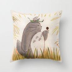 Silent Guardian Throw Pillow