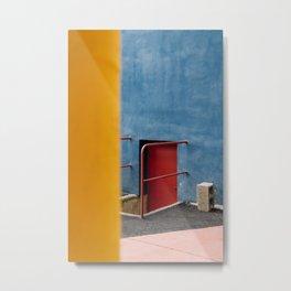 Gallaratese ᝢ Milano Italy travel photography art ᝢ red yellow blue modernist architectural photo print Europe Metal Print