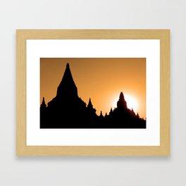 Bagan in Silhouette Framed Art Print