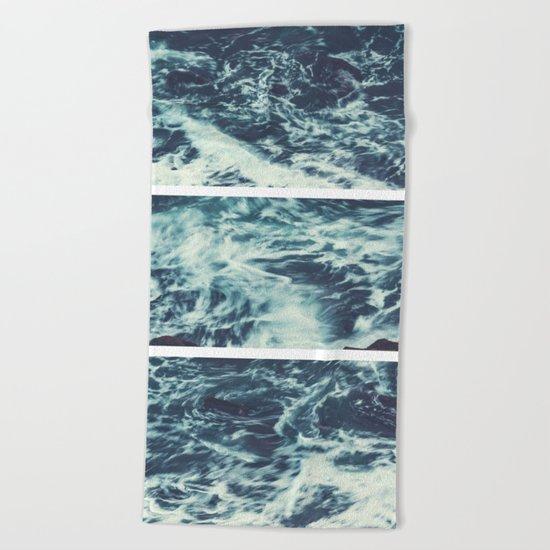 Saltwater Tryptych Beach Towel