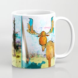 Blue Moose on the Loose ~Ginkelmier Coffee Mug