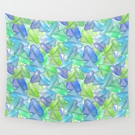 Placer precious stones, yellow , green , blue . Wall Tapestry