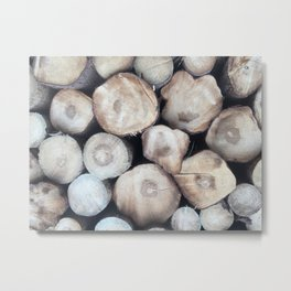 natural wood Metal Print