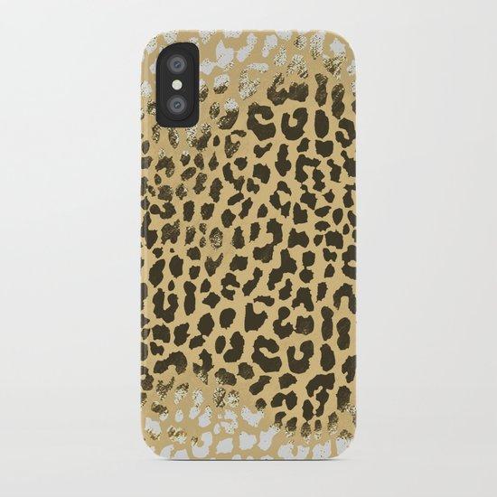 Golden Leopard iPhone Case