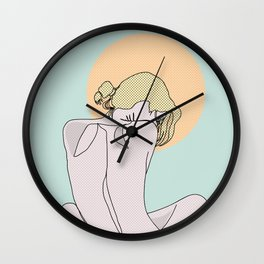 Sexy shoulders Wall Clock