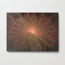 delicate peony flower Metal Print