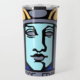 Jugendstil Einfuhrmesse Frankfurt blue Travel Mug