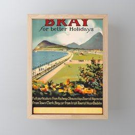 Vintage Placard Bray for better Holidays Framed Mini Art Print