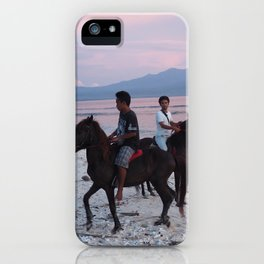 Horse at the beach iPhone Case