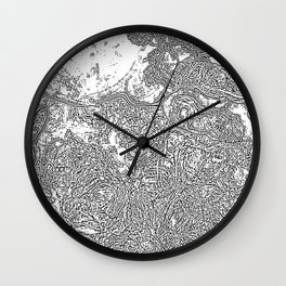 map me out Wall Clock