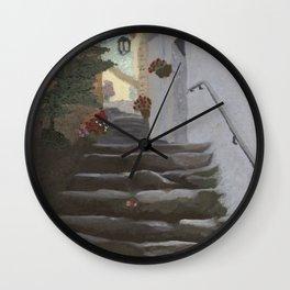 Italian Street and Stairs  Wall Clock