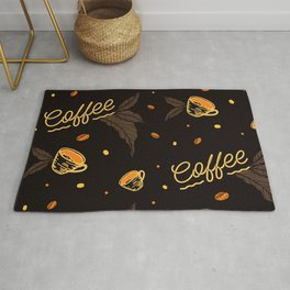 Coffee Lover Pattern Decoration Rug