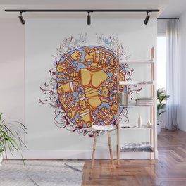 Inca design - Mayan Pinup Simbols Wall Mural