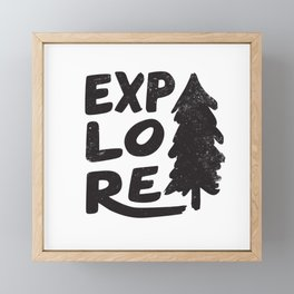 Explore Framed Mini Art Print