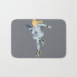 Zero Suit Samus(Smash)Silver Bath Mat