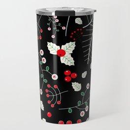 mistletoe black Travel Mug