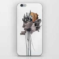 metropolis iPhone & iPod Skins featuring Metropolis by Richard Vergez