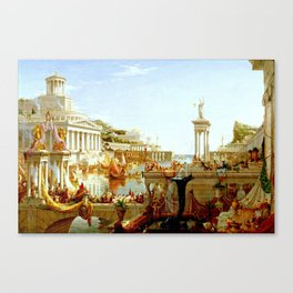 Cole Thomas The Consummation The Course of the Empire Canvas Print