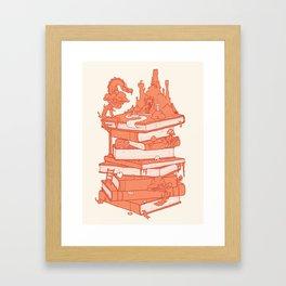 The magic of books Framed Art Print