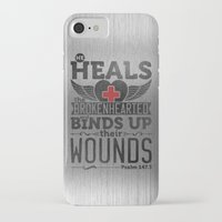 health iPhone & iPod Cases featuring He health the brokenhearted by biblebox