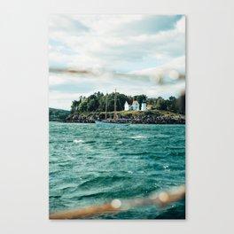 Sailing Past Curtis Lighthouse Canvas Print