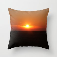 Sunset in Wiltshire England Throw Pillow