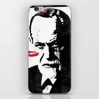 freud iPhone & iPod Skins featuring Freud by Taylor Callery Illustration