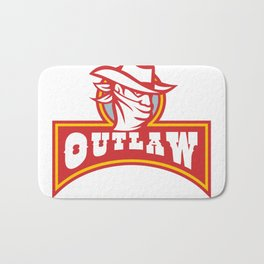 Bandit With Outlaw Text Retro Bath Mat