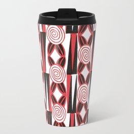 Vintage 1920s Textile Design Pattern Travel Mug