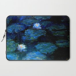 monet water lilies 1899 Blue teal Laptop Sleeve