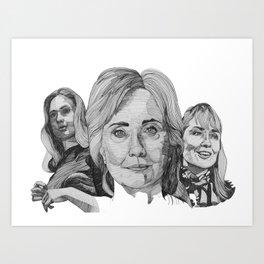 Hillary Clinton Art Print