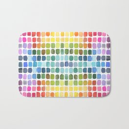 Watercolor Swatches Bath Mat
