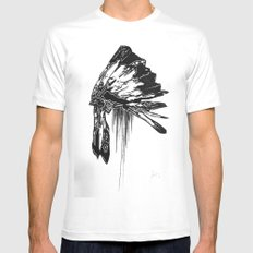 Native Living SMALL White Mens Fitted Tee