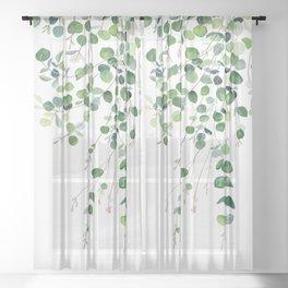 Eucalyptus Watercolor Sheer Curtain