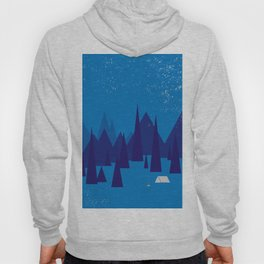 Sleeping in the blue mountains under a blanket of snow Hoody